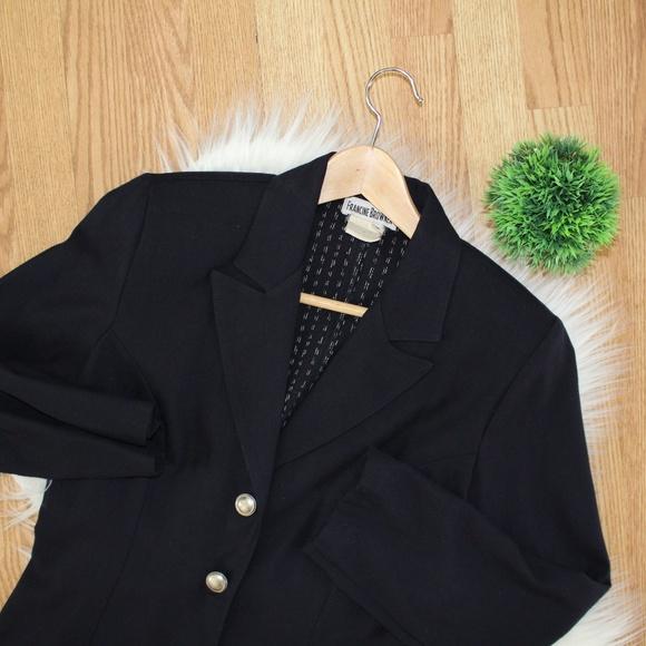 Francine Browner Jackets & Blazers - Francine Browner Navy Blazer Jacket M